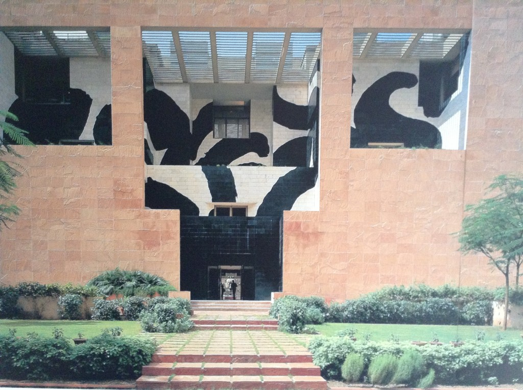 Stunning Hodgkin mural for Charles CORREA'S Head quarters for The British Council, Delhi (1993)