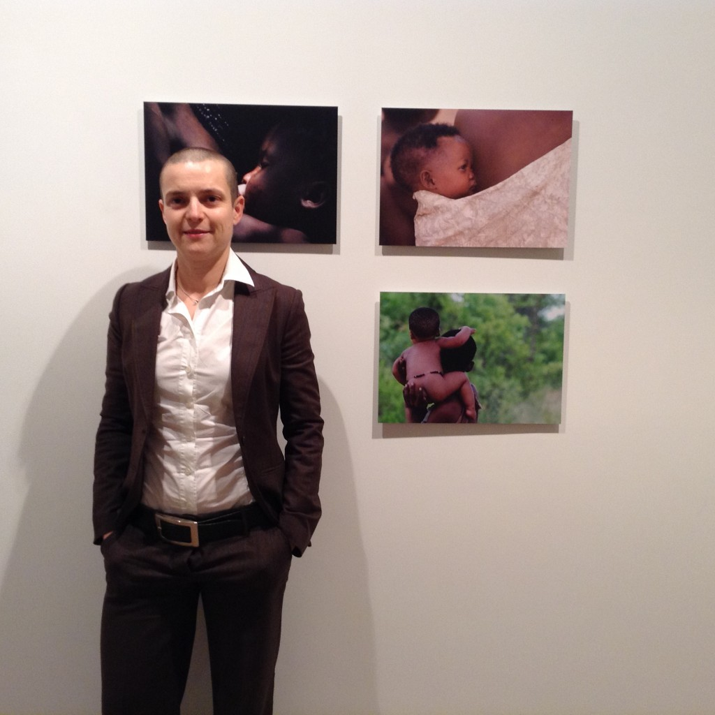 PAOLA PRIAN in in front of her pictures taken in NAMBIA