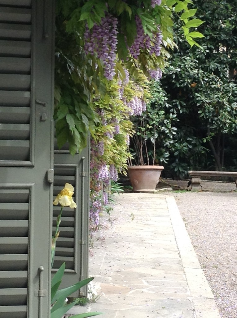 The garden of Palazzo Crespi