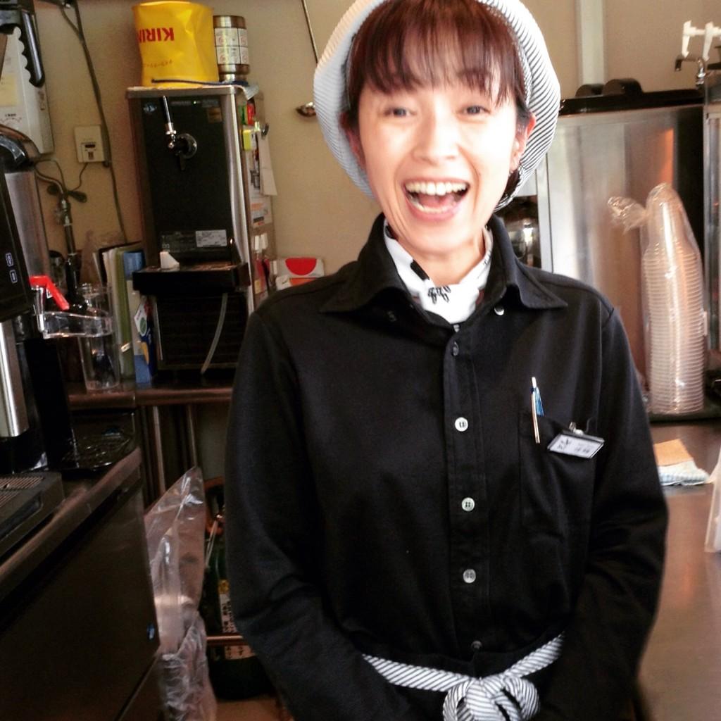 Happy Cappuccino Girl