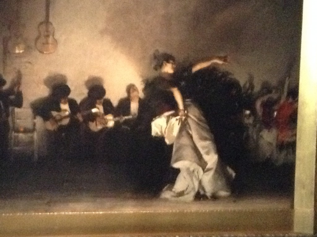 'El Jaleo'  by John Singer Sargent.  Displayed in the Spanish Cloister Gallery.