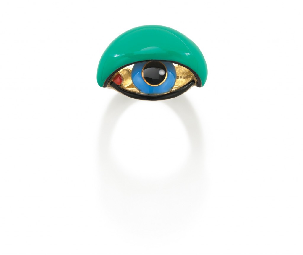 Enamel Eye ring_blue iris