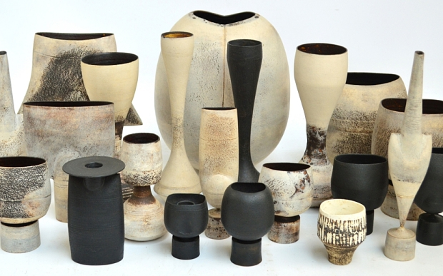 BNPS.co.uk (01202 558833) Pic: AdamPartridge/BNPS The collective price for this group of 21 pieces by Hans Coper (1920-81) was £489,900. A stunning collection of pottery amassed by a couple behind the closed doors of their modest bungalow has sold for almost £1million - 10 times the value of the property. The family of the late Alan and Pat Firth knew nothing about the treasure trove of ceramics piled up precariously inside the couple's old home and wanted it cleared so they could sell the house. But when experts entered the three-bed bungalow on the outskirts of Leeds, West Yorks, they compared it to opening Tutankhamun's tomb. Inside they found one of Britain's finest pottery collections that was so well thought of the Firths were frequently asked to loan pieces for exhibitions.