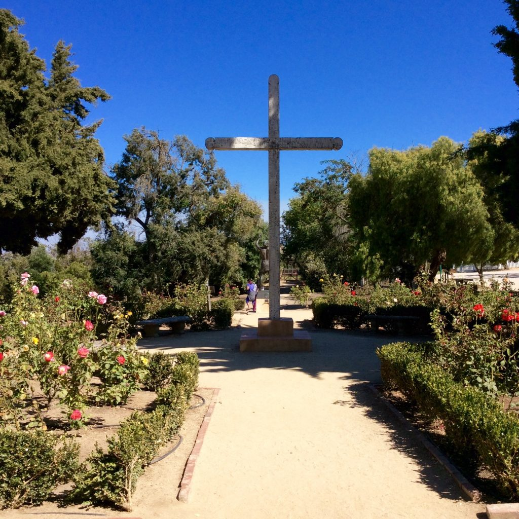 The grounds of the Mission San Juan Bautista Plaza