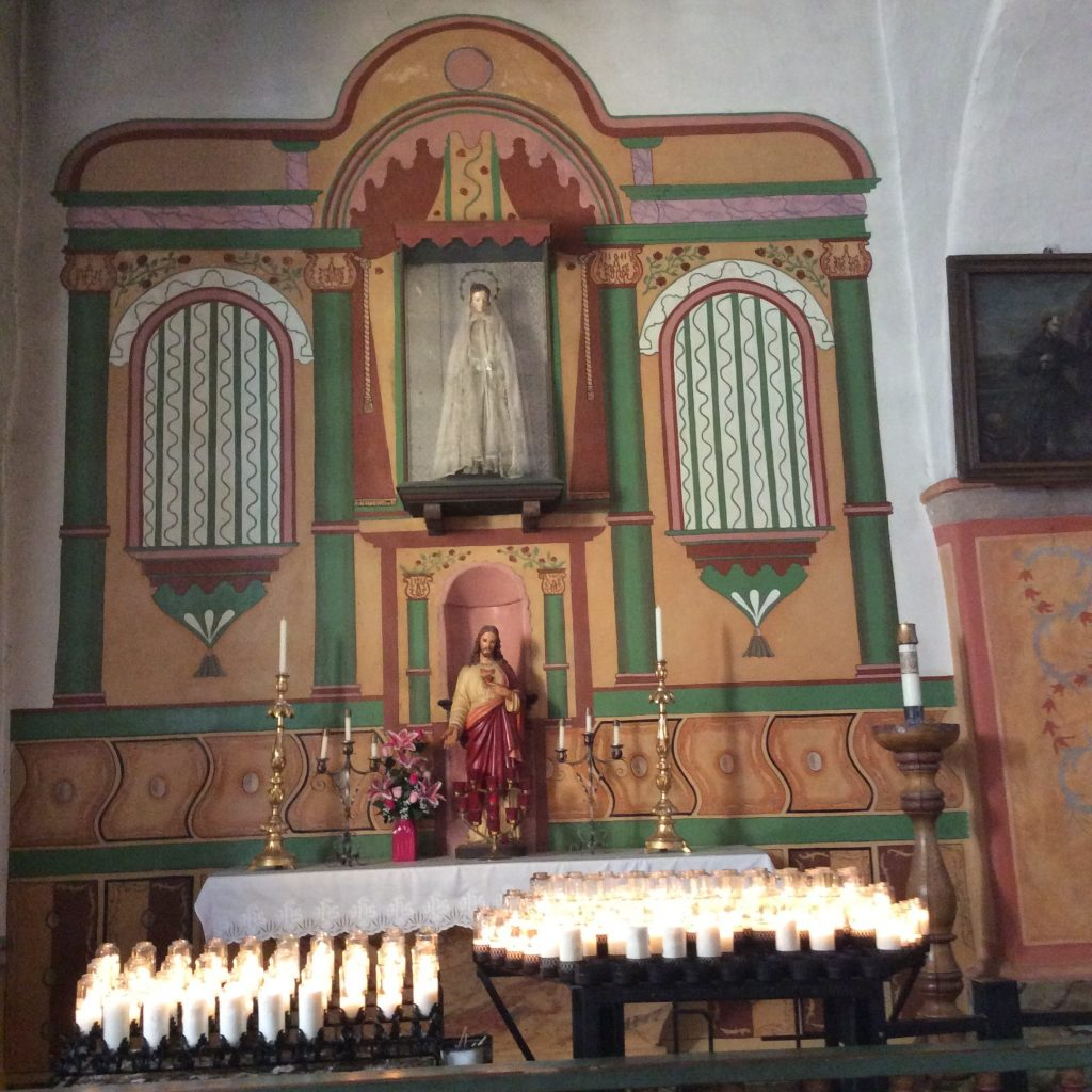 Mission church altar