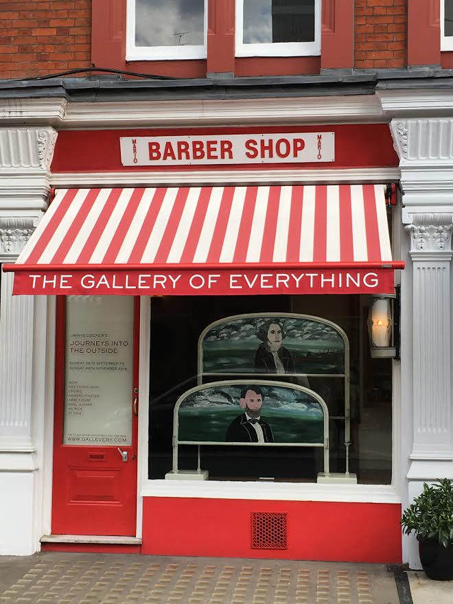 The Gallery of Everything (a former barber's shop) in Chiltern Street